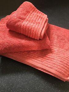 Set Of 3 Big 100% Egyptian Cotton Towels. Sheet, Bath & Hand. John Lewis. Orange
