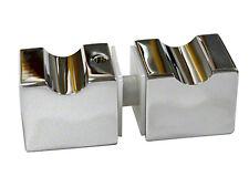 Duschtürknopf Türknaufgarnitur Glas Dusch Tür Knauf Griff eckig