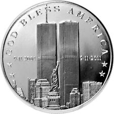 2011 911 10th Anniversary 1 oz .999 Silver Round | 9-11-2001 TWIN TOWERS BU COIN