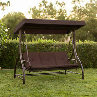 BCP 3-Seat Converting Outdoor Patio Swing Canopy