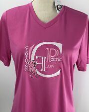 Poetic Flow Clothing Athletic Women T Shirt Medium Pink Team 365 Polyester
