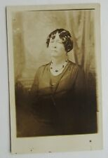 Real Photo Postcard For African American Woman Posing In Dressey Dress/ Hair-do