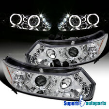 For 2006-2011 Honda Civic 2Dr Coupe LED Dual Halo Projector Headlights Pair