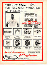 1966 MICKEY THOMPSON EQUIPMENT - TIRES / WHEELS / HEADERS ~ ORIGINAL PRINT AD