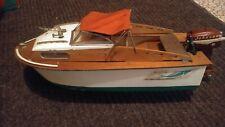 Vintage 1950's Marlin Speedboat, in original box with original Johnson motor