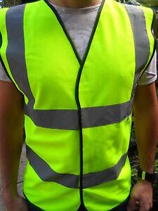 Hi Vis Adults Unisex Waistcoat Vest Sizes M to 4XL