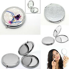 Fashion Round Portable Pocket Mirror Compact Double Side Makeup Cosmetic