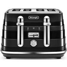 DeLonghi Cta4003bk Avvolta 1800w 4 Slice Wide Slot Toaster - Black