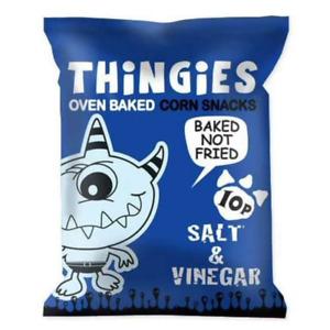 FULL CASE  54 PACKETS OF THINGIES SALT N VINEGAR FLAVOUR CRISPS