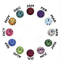 12PCS Fashion Living Memory Exquisite Glass Birthstones Floating Locket Charms