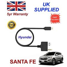 For Hyundai Santa Fe iPhone 5 6 7 8 Audio AUX Music Interface 8 pin Charge cable