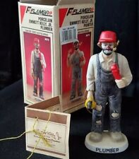 Porcelain Emmett Kelly Jr.: The Plumber - Clown Ornament Figurine #9673