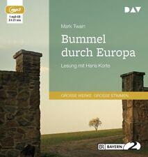 Twain Mark Bummel durch Europa MP3 HörBuch NEU Gekürzte Lesung Hans Korte