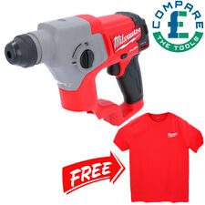 Milwaukee M12CH 12V Fuel SDS+ Rotary Hammer Drill With Large Red Work T-Shirt