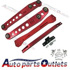 For 1996-2000 Civic EK RED Rear Lower Control Arm Subframe Brace Tie Bar