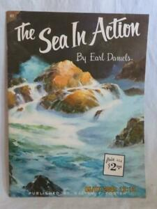 "THE SEA IN ACTION by Earl Daniels #83 Walter Foster ""How to Draw & Paint"" Book"