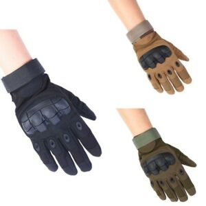 Mens Army Full Finger Gloves Touch Screen Tactical Outdoor Military-Hard Knuckle