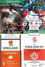More details for england v canada rugby programmes 1983 1992 1994 1999 2004