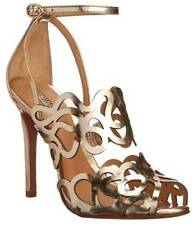 Schutz Women's Darleneh Dress Sandal, Platina/Gold SIZE 5.5B