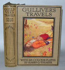Gullivers Travels - Dean Swift - H.G.Theaker-  Hardback, C1920's Ward Lock