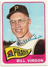 BILL VIRDON - SIGNED/AUTO/AUTOGRAPH ON A 1965 BASEBALL CARD - PIRATES