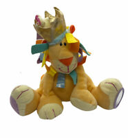 LION Plush Toy Rattle Yellow Lovey Stuffed Animal Toy Mirror Crinkle Multicolor