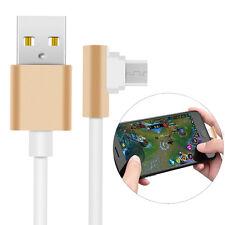 Forma L Micro USB Cavo Caricabatteria per i dati di gioco per Samsung Sony HTC MOTO LG PS4
