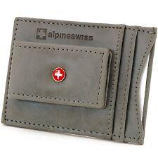 67e32cd3e Alpine Swiss Para Hombre Cartera De Cuero Dinero Clip Delgado Bolsillo  Frontal Billetera Gris