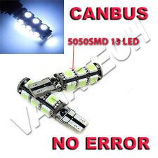 4 LAMPADINE POSIZIONE CANBUS NO ERRORE 13 LED SMD 5050 T10 W5W LUCE BIANCA NUOVO