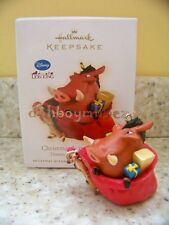 Hallmark 2009 Christmas Is In the Bag Disney The Lion King TImon Pumbaa Ornament