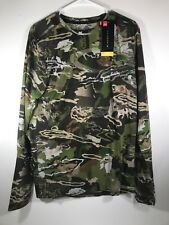 NWTs Under Armour Mens Fitted Camo Long Sleeve Threadborne Shirt Hunting Medium
