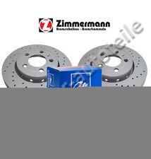 Sportbremsscheiben + ATE CERAMIC Bremsbeläge vorne MERCEDES W169  W245  288x25mm