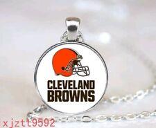 Silver tone Football Necklace