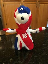 GOLDEN BEAR 2012 Stuffed London OLYMPICS UNION FLAG Wenlock Mascot Plush 11""