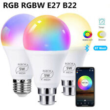 LED RGB RGBW Smart Bluetooth Ampoule Dimmable E27 B22 Ampoule Contrôlé par APP