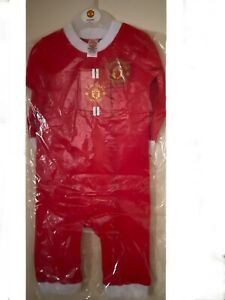 NEW OFFICIAL MANCHESTER UNITED BABY SLEEPSUIT 3-6 MONTHS  9-12MONTHS