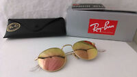 Occhiali da Sole Ray Ban RB3447N ROUND METAL oro rame flash  001/Z2