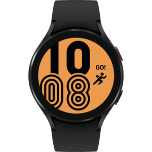 Samsung Galaxy Watch 4 44mm Smartwatch SM-R870NZKCXAA w/ Black Silver Bands