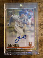 JEFF MCNEIL *2019 Topps Chrome Auto Gold /50 Rookie RC New York Mets