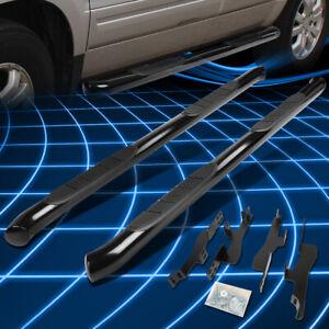"For 01-08 Acura MDX/Honda Pilot 3"" Black Round Tube Side Step Bar Running Boards"