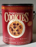 Advertising RARE World Famous Cookies gallon can/tin & coin bank 1990's