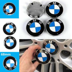 Set of 4x Wheel Rim Center Caps 68mm Covers Fit For BMW Emblem Logo Badge Hubs
