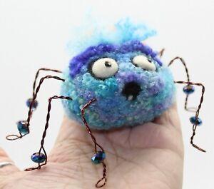 "Halloween Spider Needle Felted Wool Folk Art Doll Melissa Philbrook ""Hubert"" US"