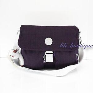 NWT Kipling KI1058 New Rita Crossbody Messenger Bag Polyester Nylon Misty Purple