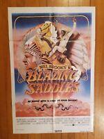 "BLAZING SADDLES 1974 Original 27"" x 41"" one-sheet movie poster Mel Brooks! 74/42"