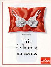 Publicité  Print AD 1999 Lingerie Triumph Ligne Amourette slip femme