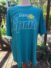 Enjoy Sprite Distressed Turquoise T Shirt Officla Coca Cola Merchandise Mens XL
