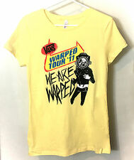 Vans Warped Tour 2011 Yellow Concert We Are Warped Scuba Tee Shirt Jr Size XL