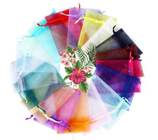 100pcs Organza Bags for Xmas Party Wedding Favour  Candy Jewellery Gift Pouches