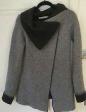 CHIARAMENTE  Grey Lagenlook Wool Blend Cardigan Jacket Small Made in Italy